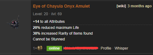PoE Eye of Chayula Price