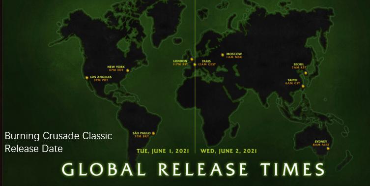 Burning Crusade Classic Release Date