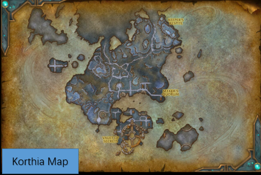 Korthia Map WoW